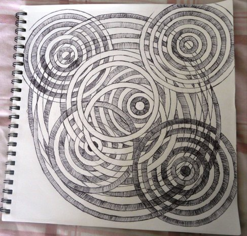 Black ink pen circles