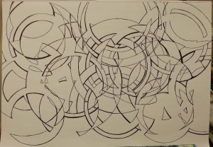 Abstract progress drawing 2014