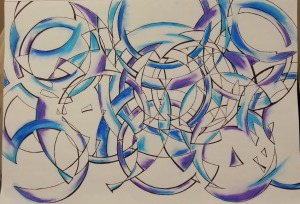 Untitled Abstract drawing - finished photo