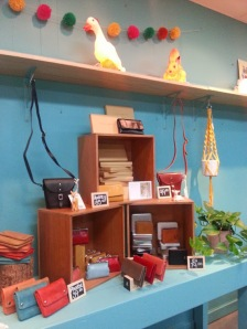 Little Bear Brown Wallets and Bag display