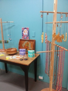 Little Bear Brown Wood beads and jewellery display