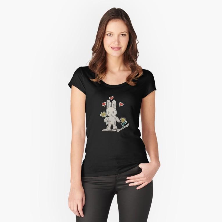 Romance Love Rabbit T-Shirt by ShaplandArt