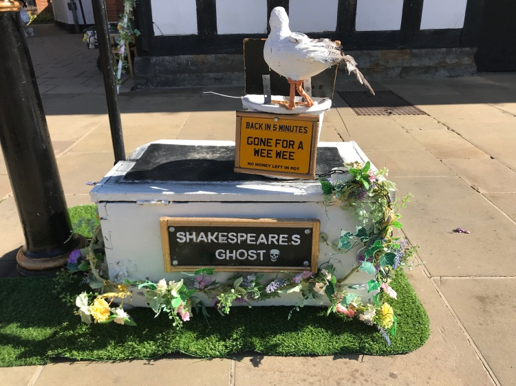 Shakespeare's ghost had to go wee wee. Such a great thing to see at Stratford-Upon-Avon.
