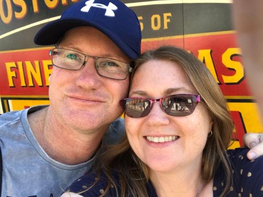 David and I - photo taken just before we left Stratford-Upon-Avon