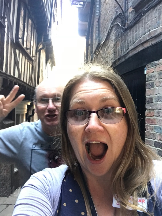 David and I playing around in York.