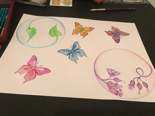 Butterfly - in progress art work by Selina Shapland