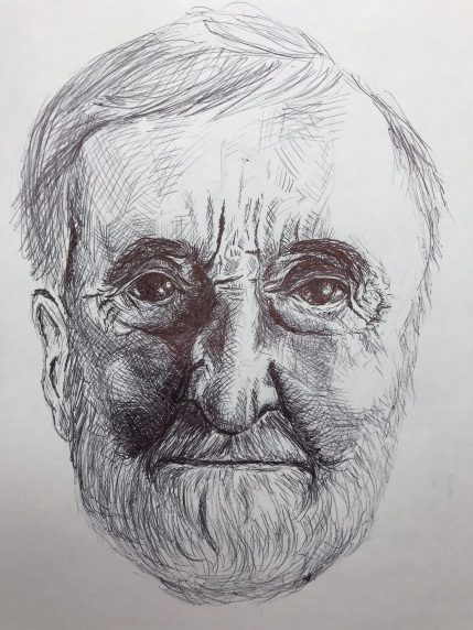 Portrait 7/100, Ink pen on white acid free paper